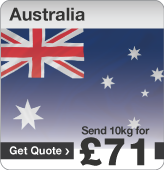 Low cost parcels to Australia