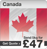 Low cost parcels to Canada
