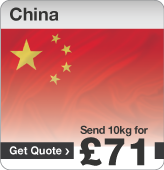 Low cost parcels to China