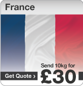 Low cost parcels to France