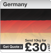 Low cost parcels to Germany