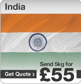Low cost parcels to India
