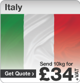 Low cost parcels to Italy