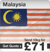 Low cost parcels to Malaysia
