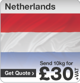 Low cost parcels to Netherlands