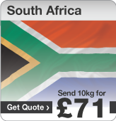 Low cost parcels to South Africa