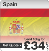 Low cost parcels to Spain