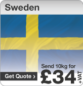 Low cost parcels to Sweden