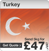 Low cost parcels to Turkey
