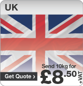Low cost parcels to UK
